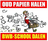 Oud papier halen BWB-School Dalen